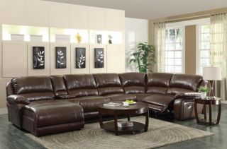 Mackenzie Sofa Couch Leather Sofa Recline Sectional Chaise 6 PC Living Room Set