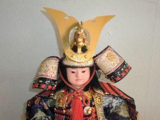 RARE Japanese Gogatsu Ningyo Samurai Doll Yoroi Kabuto Bushi