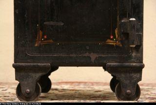 Antique Cast Iron Combination Safe Signed J Baum Safe and Lock Co Cincinnati