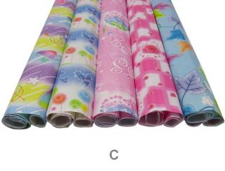 5 Packs of Birthday Christmas Wedding Gift Wrapping Paper Wrap Papers Sheets