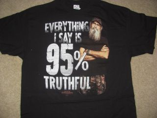 "New Duck Dynasty Shirt SI ""Everything I Say Is 95 Truthful"" Mens Size M 2XL"