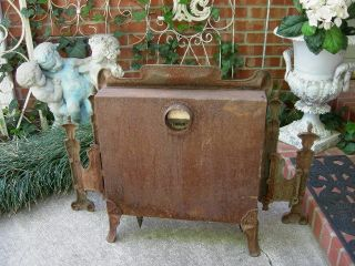 Fab Ornate Antique Cast Iron Radiant Gas Heater Stove