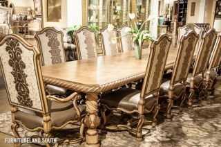 ... Marge Carson Inc Segovia 12 Piece Dining Set With Credenza ...