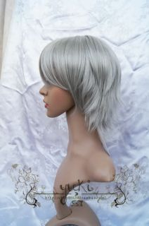 Soul Eater Franken Stein Cosplay Wig Grey Costume Short Party Daily Hair Coser