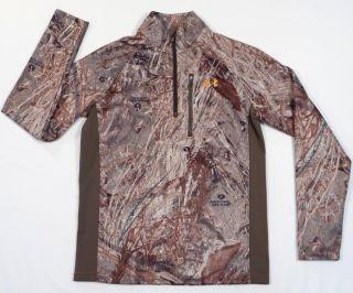 Under Armour Cold Gear Mossy Oak Duck Blind Camo Long Sleeve Shirt Mens