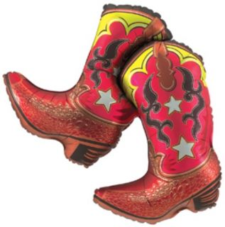 Dancing Cowboy Boots Balloon Western Themed Birthday Party Supplies