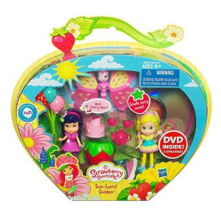 Strawberry Shortcake Dolls Sun Lovin Garden Set Bonus DVD New VHTF