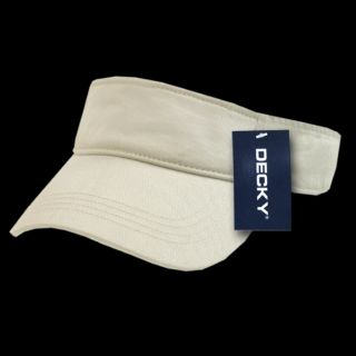 Cotton Chino Twill Visor for Golfers Tennis Polo Cap Hat Color Stone Decky 962