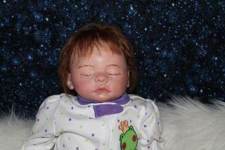 Sweet Pea Babie's Nursery Reborn Doll Sweet Baby Girl Meg by Marissa May