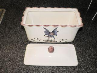 New Kitchen Fairy Large Bread Box Storage Organizer Amy Brown Retired Collection