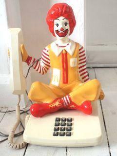 RARE Vintage Novelty 1980s Ronald McDonald Telephone Retro Landline Home Phone