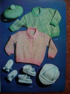 Vtg 1950s Rockabilly Baby Doll Infant Clothing Crochet Knitting Patterns Book
