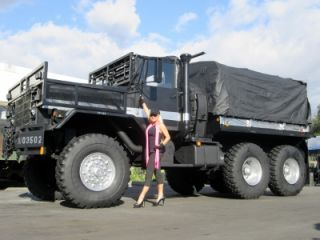 M931A2 Shorty 5 Ton Monster Military 6x6 Cargo Truck Tractor Cummins Diesel Auto