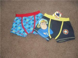 Fireman Sam Boxer Shorts for Boys Underpants Briefs 2 Pair BNWT