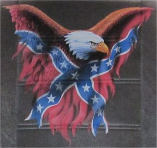 Confederate Flag Eagle Bench SM Truck Rear New Seat Covers PP