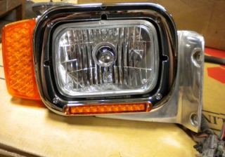 Peterbilt Single Large Rectangle Headlight Assemblies w LED Custom Headlight