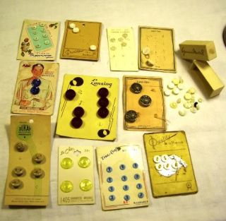 75 Vintage Buttons Baby Shirt Dress Bakelite Mother Pearl Shell Cards Dolls Doll