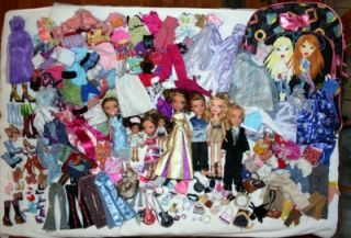 Huge Lot Bratz Dolls Clothes Shoes Accessories 200 Items Bratz Backpack