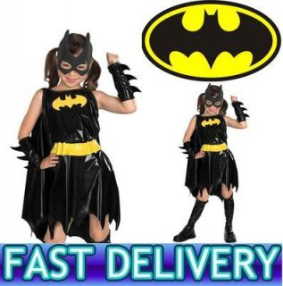 Childrens Girls Kids Batgirl Superhero Bat Girl Batman Fancy Dress Costume 2313