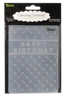 Darice 4x6 Embossing Folder Happy Birthday Card Making Scrapbook 1215 45