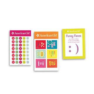 American Girl Sticker Charm Set for Girls New