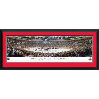 BlakewayPanoramas NHL 2013 Stanley Cup Champions   Chicago Blackhawks Deluxe Frame Panorama