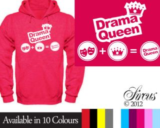 New Girls Cute Drama Queen Hoody Funny Designer Childrens Hoodies