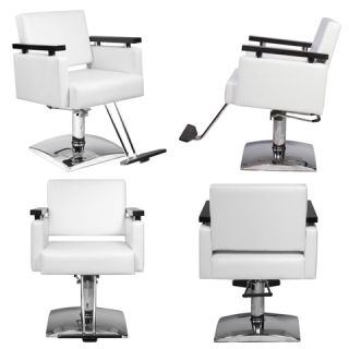 New White Salon Beauty Equipment Hydraulic Styling Chair Package 4 SC 10W