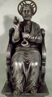 Beautiful Antique Castmetal Statue of St Peter from Rome