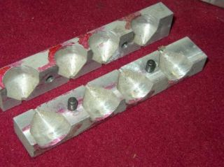 3 Aluminum Fishing Weight Sinker Molds