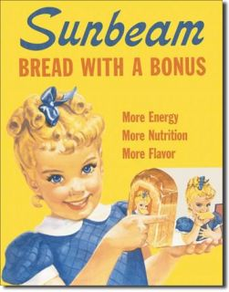 Little Miss Sunbeam Bread Vintage Retro Metal Tin Sign