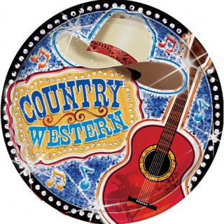 Country Western Theme Dessert Party Plates 8ct Party Supplies