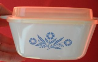 Corning Ware Blue Corn Flower Petite Casserole Set Lid