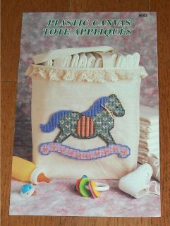 Annie's Attic Tote Appliques Rocking Horse Cat Tulip Baby Plastic Canvas Pattern