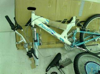 """Pacific Girl's Chromium Mountain Bike Light Blue 15"""" Frame"""