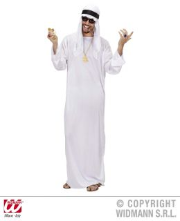 Arab Sheik L Tunic Headdress Fancy Dress Costume Party Novelty Outfit Large