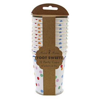 TOOT Sweet Childrens Circus Birthday Party Pack 12 Spotty Paper Cups