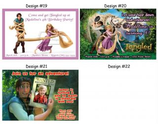 Tangled Princess Rapunzel Birthday Party Ticket Invitations Supplies Favors