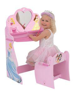 Disney Princess Wooden Vanity Dressing Table Chair