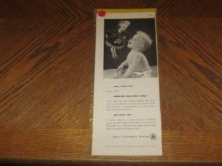 Lot 3 Vintage Magazine Ads Advertisement Advertising Bell Telephone System Baby