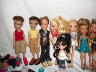 11 Bratz Dolls Boys Girls Kidz Extra Clothes Shoes Purses Accessories Huge Lot