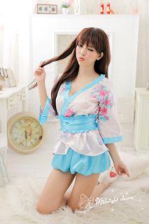Sex Japanese Bridal Fancy Party Clubwear Costumes Babydoll Sleepwear Robes H104P