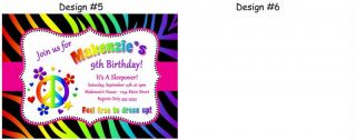 Zebra Print Minnie Mouse Pink Purple Birthday Party Invitations Supplies Favors