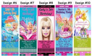 Barbie Mermaid 3 Musketeers Birthday Party Ticket Invitations Supplies Favors
