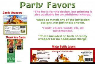 The Lion King Simba Movie Birthday Party Ticket Invitations Supplies Favors