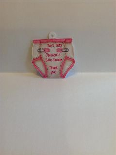 Baby Shower Favor Tags Diaper Shaped Super Cute Qty 30 to 100