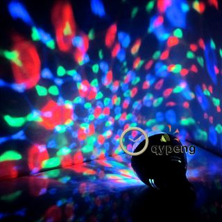 Colorful E27 3W Rotating RGB 3 LED Spot Light Bulb Lamp Chrismas Party Decor