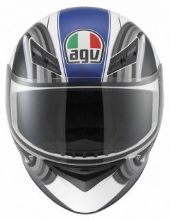 Agv K3 Chicane Full Face Race Touring City Motorcycle Helmet White Blue Black