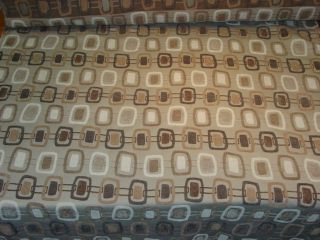 Party Line Sand Brown White Gray Modern Design Upholstery Fabric BTY