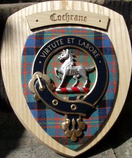 Scottish Gifts Cochrane Family Clan Crest Wall Plaque